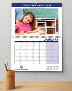 School Calendar A4 Wiro