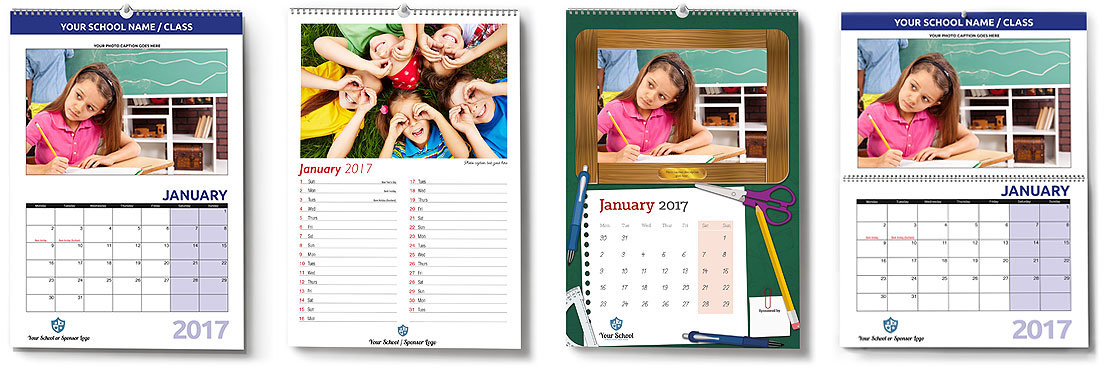 Fundraising for Schools Calendars